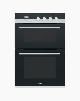 salini-oven-double-13-functions-triple-glazed-door-36L-60L-capacity-white-LED-display-black-front-SOD8002H