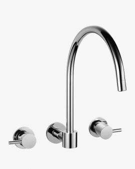 Eleanor Swivel Wall Sink Spout Tap Set