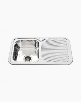 Chloe Single Square Kitchen Sink with RHS Drainer