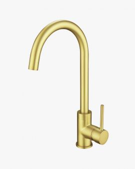 Colette Kitchen Laundry Mixer Tap Brushed Gold