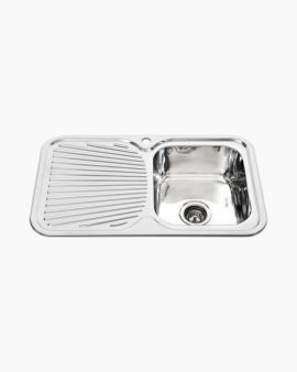 Chloe Single Square Kitchen Sink with LHS Drainer
